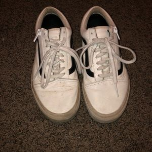 Vans Shoes - White Leather Vans